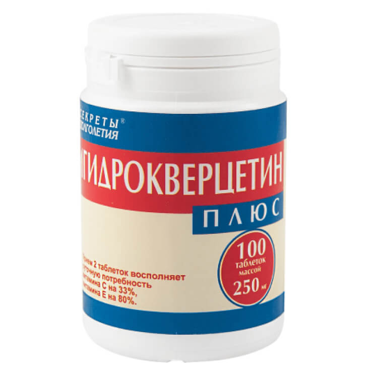Дигидрокверцетин плюс 100 таб.-1