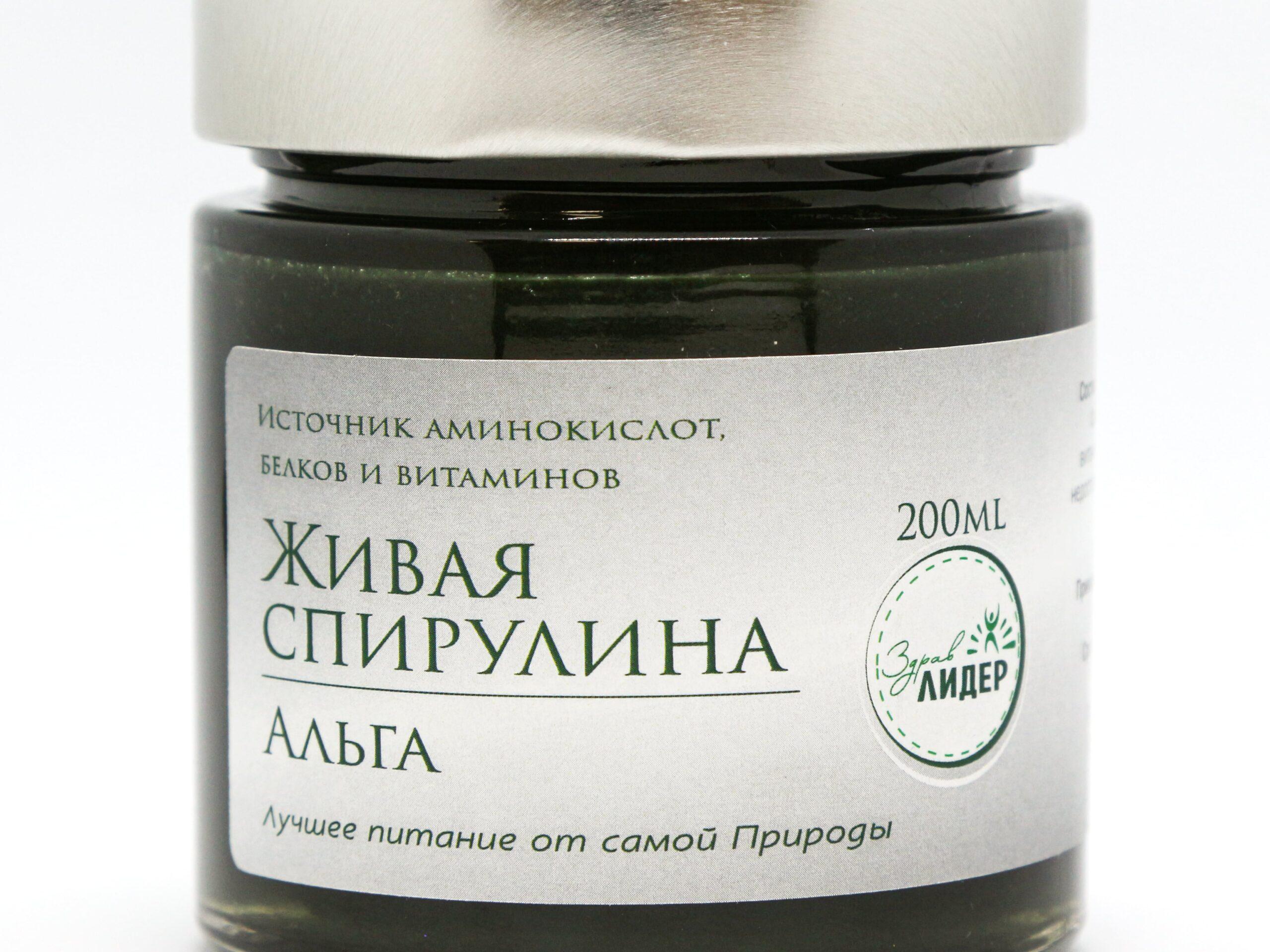 Живая спирулина «Альга»-3