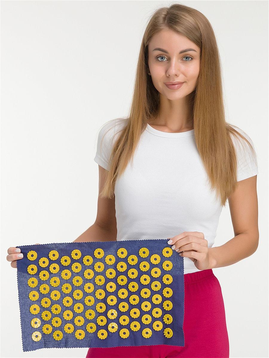 Ипликатор-коврик игольчатый для улучшения кровообращения. Размеры 25х40 см, 85 шт.-4