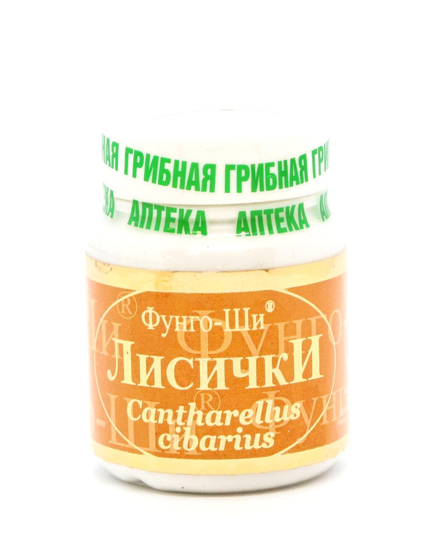 Натуральный препарат «Лисички»для лечения печени, очищения организма от паразитов, 60 капсул-1