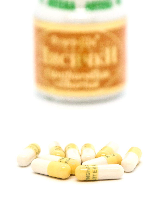 Натуральный препарат «Лисички»для лечения печени, очищения организма от паразитов, 60 капсул-5